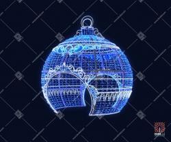 """Светодиодная 3D-фигура шар """"Снежный"""""""