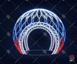 """Светодиодная 3D-фигура шар """"Россия"""""""