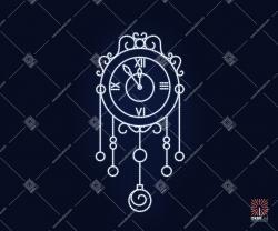 """Светодиодная 2D-фигура """"Часы из дюралайта"""""""