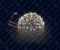 """Светодиодная 3D-фигура """"Полусфера""""-100"""