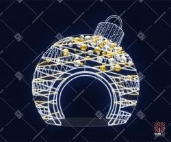 """Светодиодная 3D-фигура """"Шар со спиралями и шарами"""""""