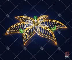 """Светодиодная 3D-фигура """"Цветок золотой""""  3м"""