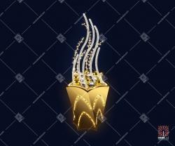 """Светодиодная 3D-фигура """"Золотое пламя"""""""