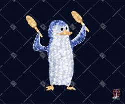 """Светодиодная 3D-фигура """"Пингвин с маракасами"""""""