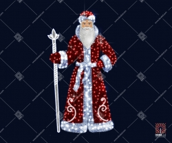 """Светодиодная 3D-фигура """"Дед Мороз"""""""
