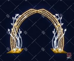Светодиодная арка с листьями