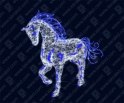 """Светодиодная 3D-фигура """"Конь вороной"""""""