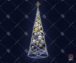 "Светодиодная елка ""С шарами"""
