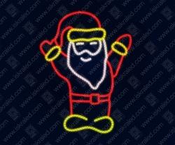 "Светодиодная 2D-фигура ""Санта-Клаус"""
