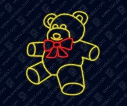 """Светодиодная 2D-фигура """"Мишка Тедди"""""""