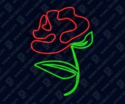 """Светодиодная 2D-фигура """"Роза"""""""