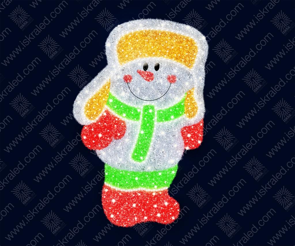 """Светодиодная 2D-фигура """"Веселый снеговик"""""""
