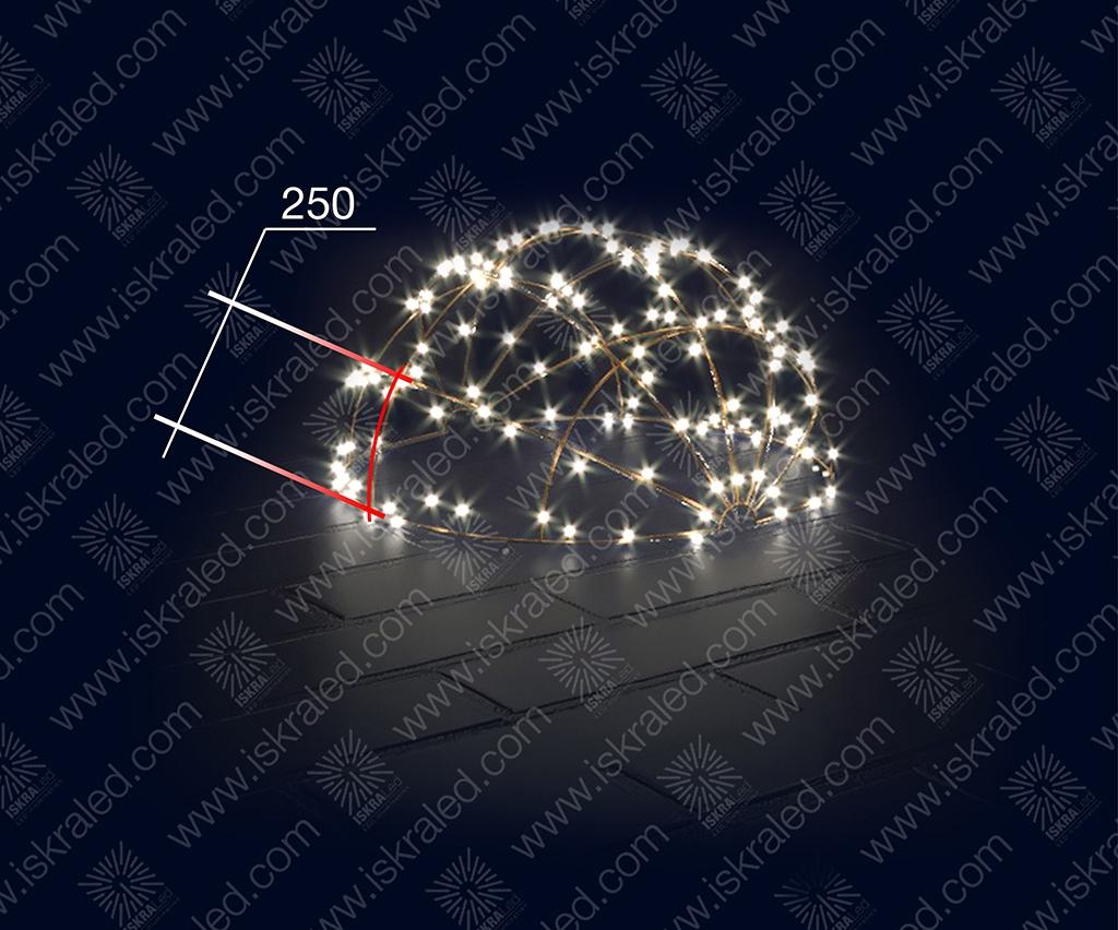 """Светодиодная 3D-фигура """"Полусфера""""-250"""