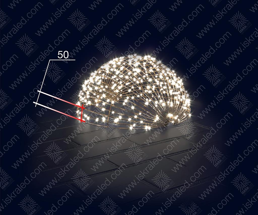 """Светодиодная 3D-фигура """"Полусфера""""-50"""