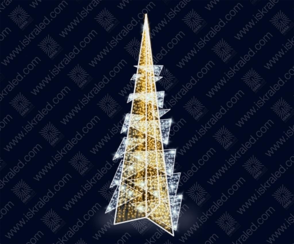 Светодиодная елка в стиле hi-tech