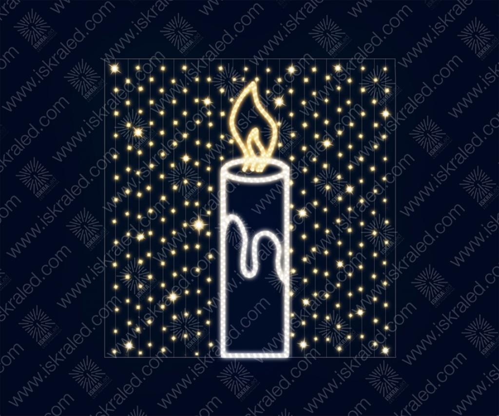 "Светодиодная 2D-фигура ""Тепло свечи"""