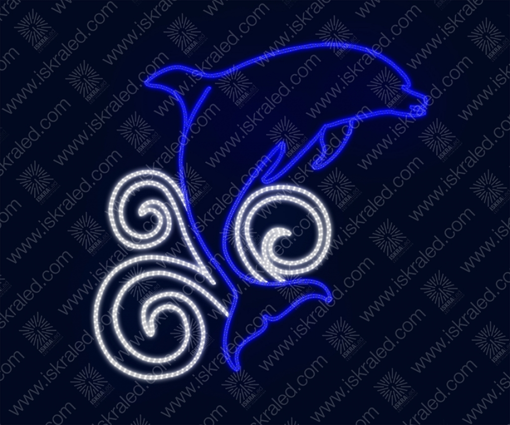 """Светодиодная 2D-фигура """"Дельфин"""""""