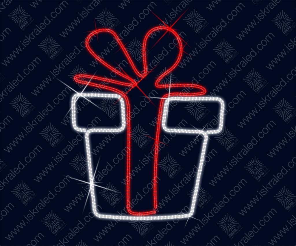 """Светодиодная 2D-фигура """"Подарок"""""""