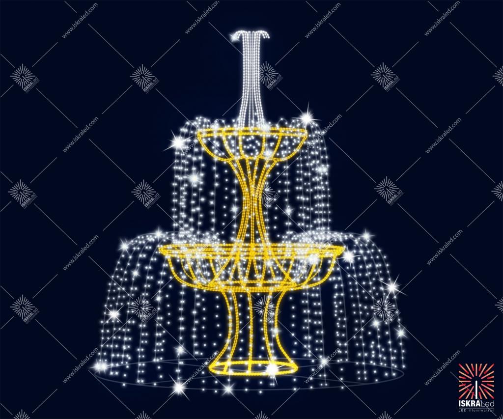 """Светодиодный фонтан """"Каскад из водопадов"""""""